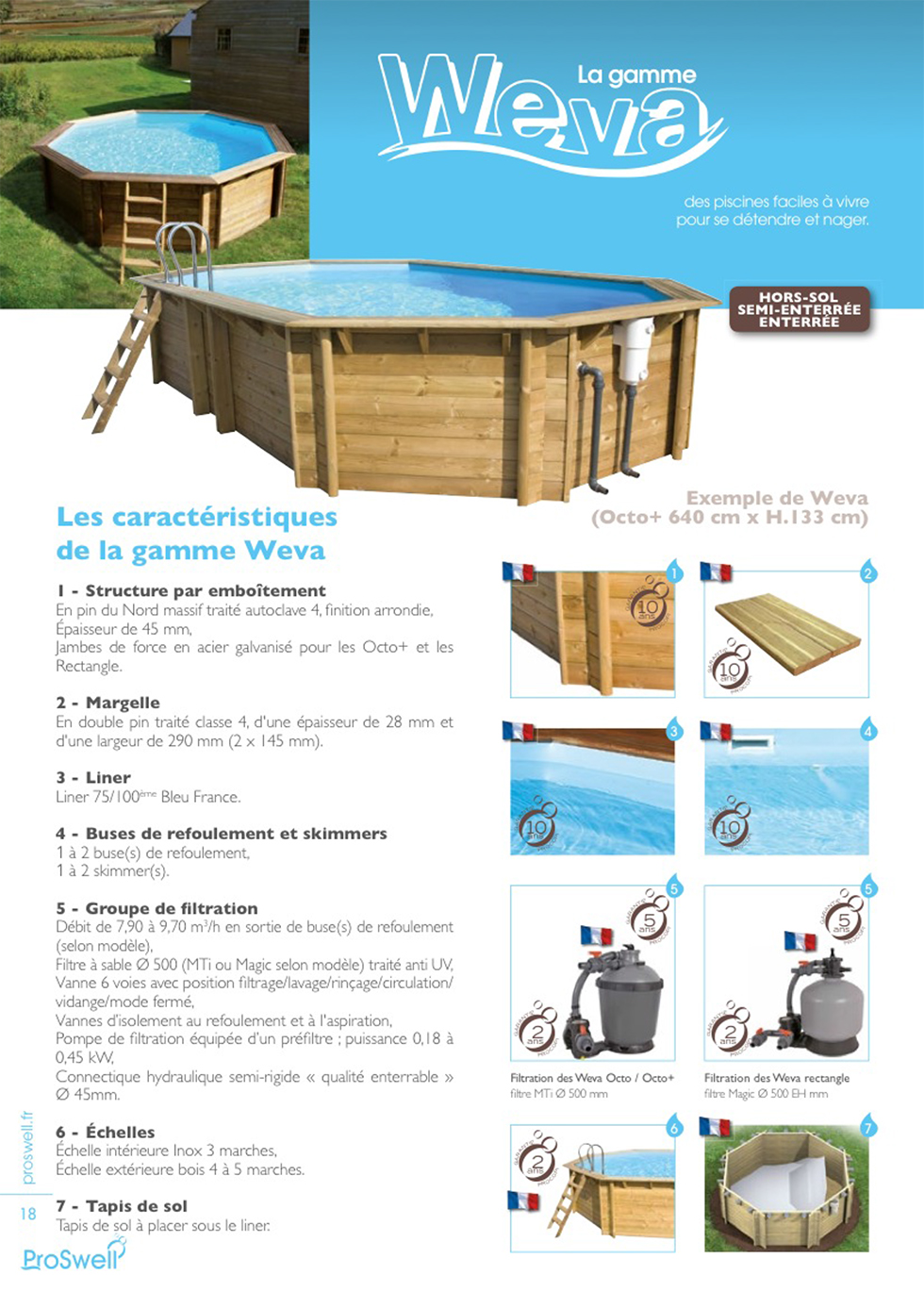 G n ration bien tre magasin de piscines bois en kit Piscine kit bois semi enterree